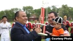 Турнир по футболу между командами кыргызских диаспор в США, Филадельфия, 6 мая 2012 года.