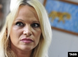 Actress and animal rights activist Pamela Anderson (file photo)