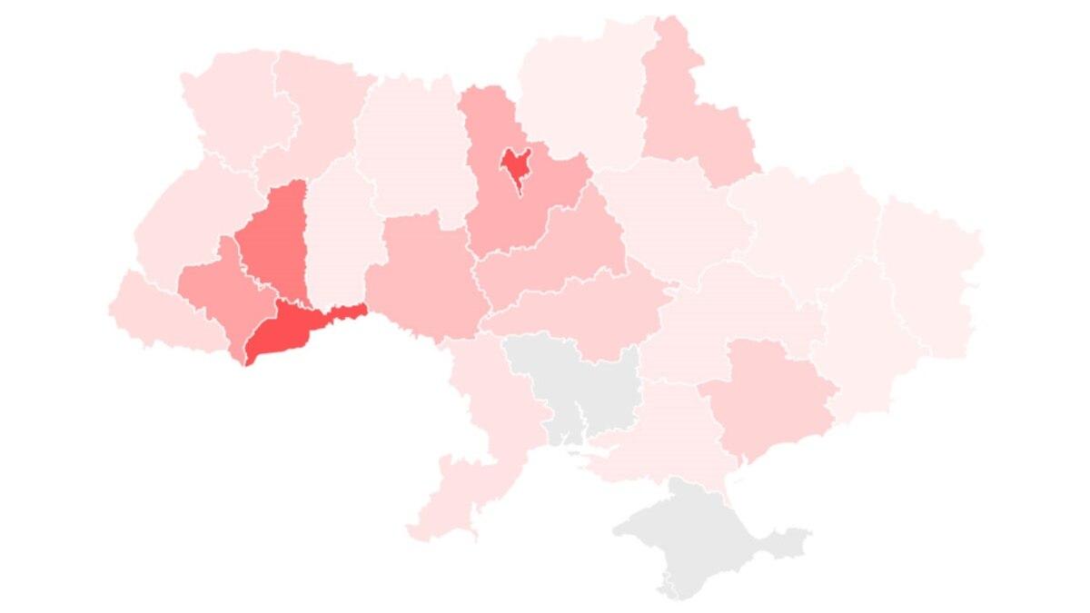 COVID-19: 1668 случаев в Украине. Интерактивная карта