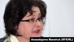 Елена Малыгина, представитель прессозащитной организации «Адил соз». Алматы, 20 февраля 2013 года.