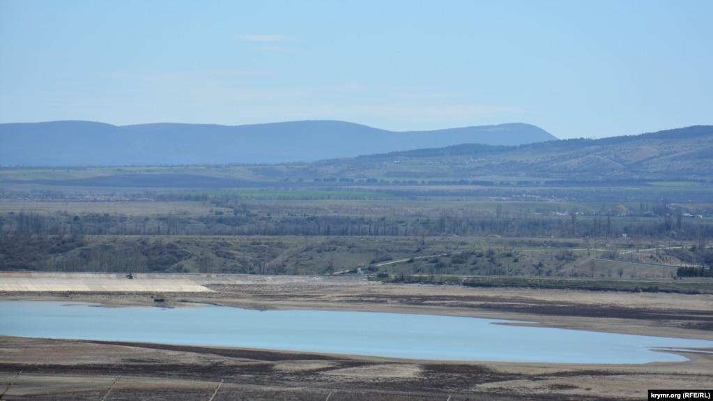 Тайганское водохранилище. 1 апреля 2017 года