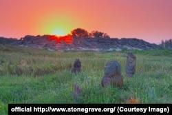 Схід сонця над Кам'яною Могилою