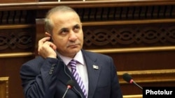 Armenia -- Speaker Hovik Abrahamian addresses the National Assembly, 7Feb2011.