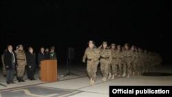 Церемония проводов армянских миротворцев в ереванском аэропорту «Звартноц», 26 ноября 2014 г․