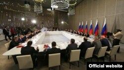 Ռուսաստանի նախագահ Վլադիմիր Պուտինը Ղրիմում խորհրդի նիստ է անցկացնում, 17-ը օգոստոսի, 2015թ․