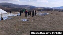 Izgradnja kampa za migrante, 21 mart 2020.