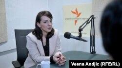 Marinika Tepić, funkcionerka opozicione Stranke slobode i pravde (SSP) u Srbiji