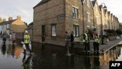 Затопленная улица в Оксфорде