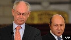 Președintele Băsescu cu Herman Van Rompuy, la București, în 2011