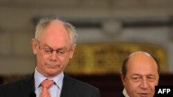PreședinteleTraian Basescu și Președintele Consiliului European Herman van Rompuy