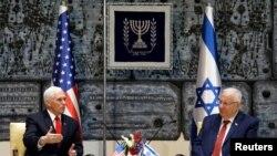 Vicepreședintele Mike Pence primit de președintele israelian Reuven Rivlin