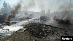 У цэнтры сырыйскай сталіцы Дамаску сёньня выбухнуў начынены выбухоўкай аўтамабіль паблізу штаб-кватэры кіроўнай партыі «Баас».