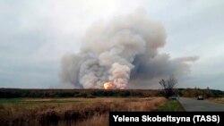 Пожар на складе боеприпасов в Рязанской области России, 7 октября 2020 года