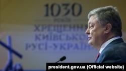 Президент України Петро Порошенко виступає під час VII Національного молитовного сніданку України. Київ, 31 травня 2018 року