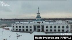 Київський річковий вокзал з висоти пташиного польоту