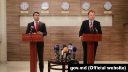 Premierul Chiril Gaburici și Evgeni Șevciuk, la Tiraspol