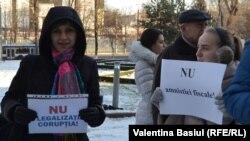 La Chișinău la protestele împotriva amnistiei fiscale