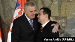 Српскиот претседател Томислав Николиќ и премиерот Ивица Дачиќ.