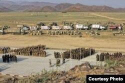 Русская военная база в Таджикистане.