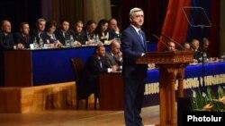Руководство правящей Республиканской партии Армении во время съезд партии, май 2014 г․