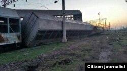Сила столкновения двух поездов была достаточно сильной. Хавас, 20 марта 2016 года.