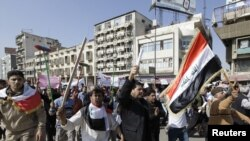 تظاهرة في بغداد تطالب بتوفير عمل وتحسين الخدمات