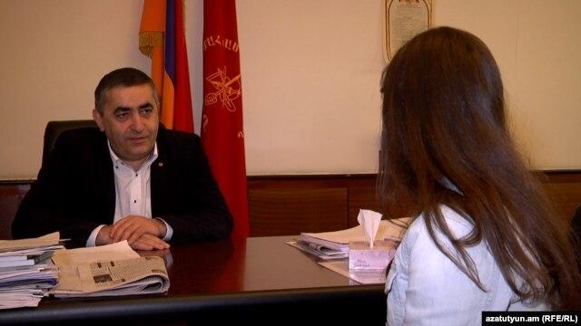 ՀՅԴ խմբակցության ղեկավար Արմեն Ռուստամյանը հարցազրույց է տալիս «Ազատությանը», 18-ը փետրվարի, 2016թ․
