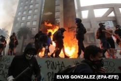 Массовые протесты в Чили. Январь 2020 года