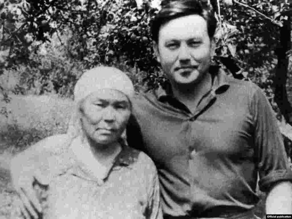 Nursultan Nazarbaev, pictured here with his mother, has led Kazakhstan for 20 years. - The future president, born in 1940, was the son of a shepherd.