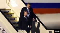 """Владимир Путин прибыл в Брисбен для участия в саммите """"Группы двадцати"""" (14 ноября 2014 года)"""