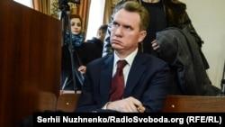 Голова ЦВК Михайло Охендовський під час засідання суду, грудень 2016 року