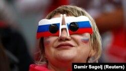 Болельщица сборной России на чемпионате мира по футболу.