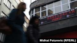 """""""Brojač budžetske potrošnje"""" u centru Sarajeva, fotoarhiv"""
