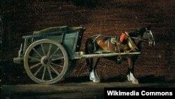 Джон Констэбл, «Павозка, запрэжаны конь».