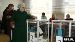 На избирательном участке в Киеве, 17 января 2009 г