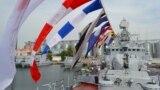 Годовщина со дня поднятия военно-морского флага на фрегате «Гетьман Сагайдачный». Одесса, июль 2016 года