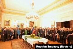 Ambasada Rusiei la Londra, recepție în onoarea celor 23 de diplomați ruși expulzați, 16 martie 2018