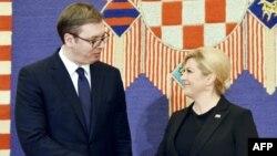 Malo toga urađeno od obećanja sa predsedničkih susreta (Foto: Aleksandar Vučić i Kolinda Grabar Kitarović u Zagrebu, februar 2018)