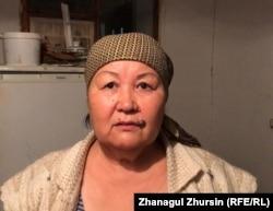 Гульжан Имашева, мать уехавшей в Сирию Гульбану Асановой. Актюбинская область, 1 ноября 2018 года.
