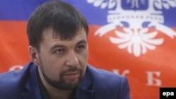 Денис Пушилин, Украина шығысындағы Ресей қолдайтын сепаратистер жетекшісі.