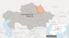 Павлодарская область на карте Казахстана.