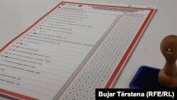 Fletë votimi nga zgjedhjet e kauara - Foto nga arkivi.