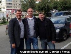 З партнэрамі па зборнай Аляксандрам Тучкіным і Міхаілам Якімовічам