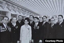 Дэлегаты XXIV зьезду КПСС. Масква, 1971