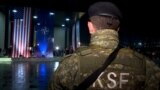 Kosovo - Member of the Kosovo Security Force during a ceremony after transformation into an army