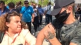 GRAB - RFE/RL Journalists Assaulted At Ruling Party Rally In Bulgaria