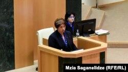 Выступление Майи Цкитишвили в парламенте (архив)