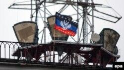 Захоплений бойовиками угруповання «ДНР» регіональний телецентр у Донецьку, квітень 2014 року