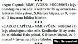 S. Rüstəm, 9 ünvanından çıxan şirkətlər