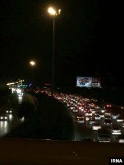 تصویر منتشرشده در ایرنا از ترافیک شبانه در مشهد